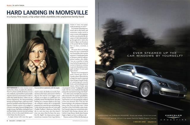 Article Preview: HARD LANDING IN MOMSVILLE, October 2003 | Maclean's