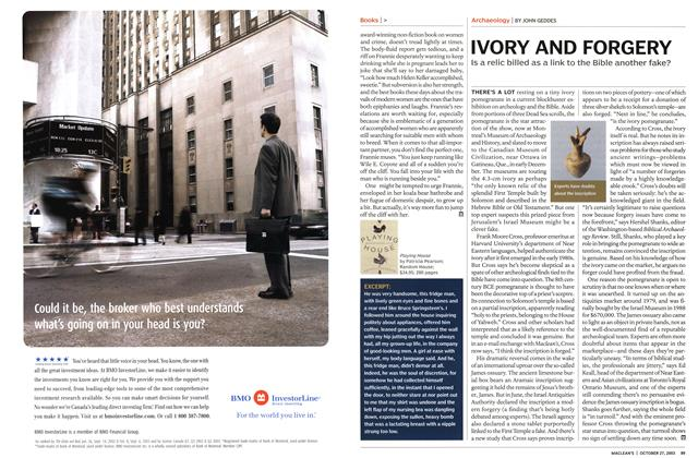 Article Preview: IVORY AND FORGERY, October 2003 | Maclean's
