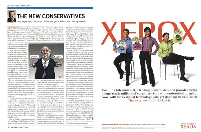 Article Preview: THE NEW CONSERVATIVES, October 2003 | Maclean's