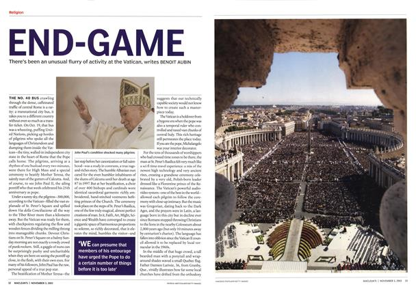 Article Preview: END-GAME, November 2003 | Maclean's