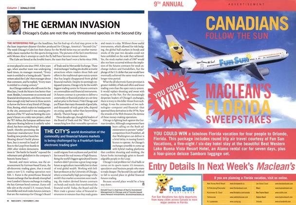 Article Preview: THE GERMAN INVASION, November 2003 | Maclean's