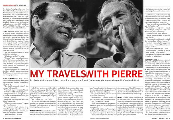 Article Preview: MY TRAVELS WITH PIERRE, November 2003 | Maclean's