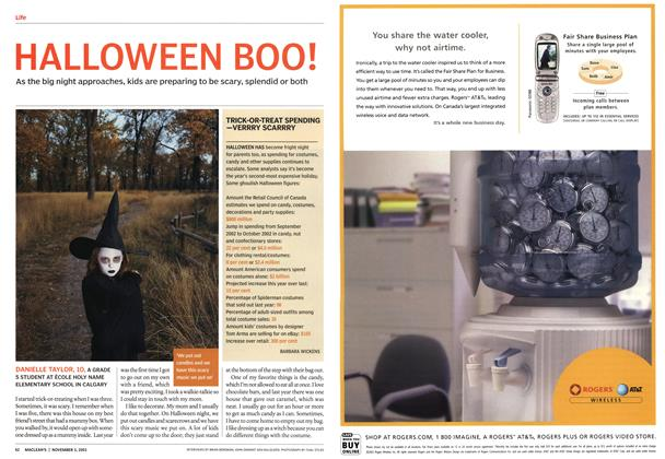 Article Preview: HALLO WEEN BOO!, November 2003 | Maclean's