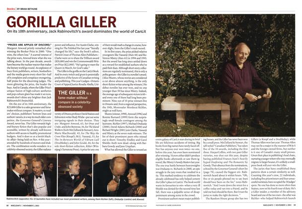 Article Preview: GORILLA GILLER, November 2003 | Maclean's