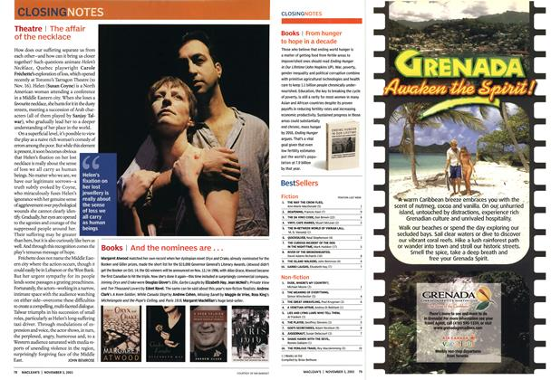 Article Preview: Theatre, November 2003 | Maclean's