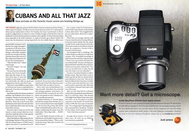 Article Preview: CUBANS AND ALL THAT JAZZ, November 2003 | Maclean's
