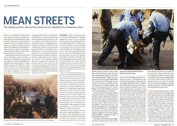 Article Preview: MEAN STREETS, November 2003 | Maclean's