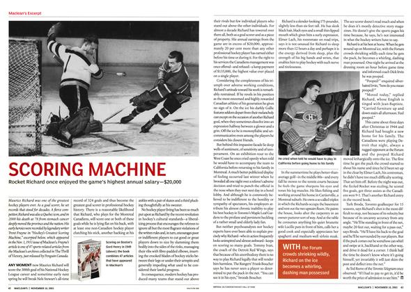 Article Preview: SCORING MACHINE, November 2003 | Maclean's