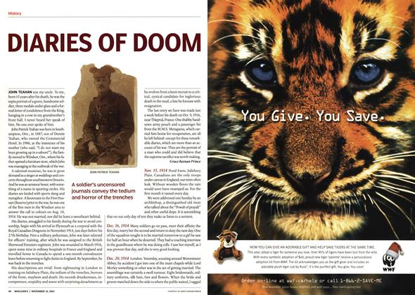 Article Preview: DIARIES OF DOOM, November 2003 | Maclean's