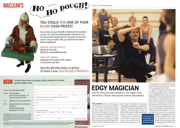 Article Preview: EDGY MAGICIAN, November 2003 | Maclean's