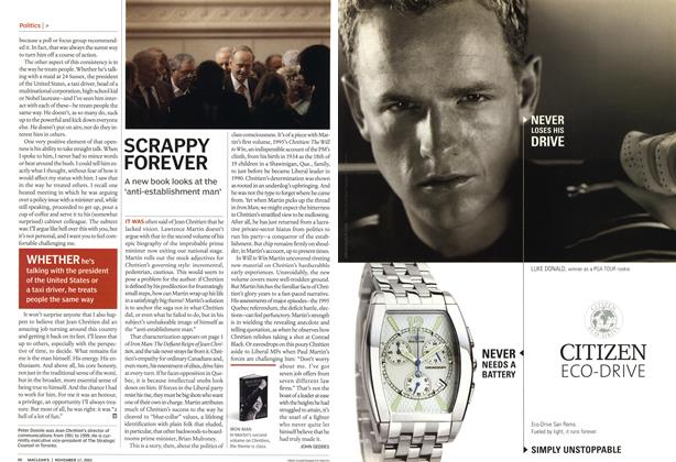 Article Preview: SCRAPPY FOREVER, November 2003 | Maclean's