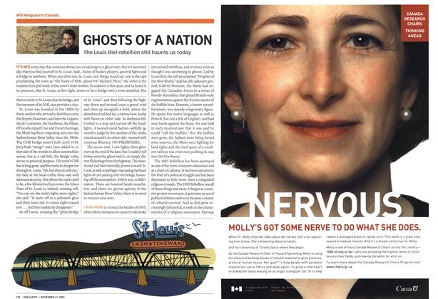 Article Preview: GHOSTS OF A NATION, November 2003 | Maclean's