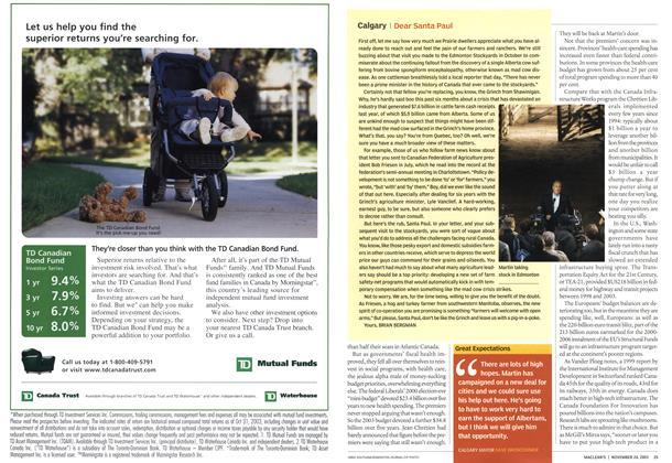 Article Preview: I Dear Santa Paul, November 2003 | Maclean's