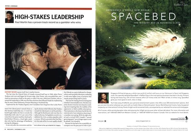 Article Preview: HIGH-STAKES LEADERSHIP, November 2003 | Maclean's