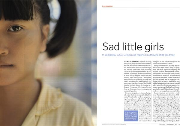 Article Preview: Sad little girls, November 2003 | Maclean's