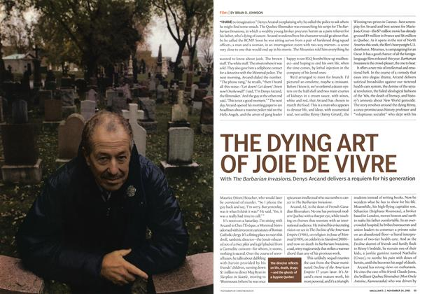 Article Preview: THE DYING ART OF JOIE DE VIVRE, November 2003 | Maclean's