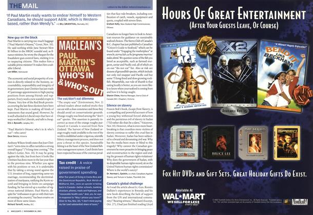 Article Preview: THEMAIL, November 2003 | Maclean's