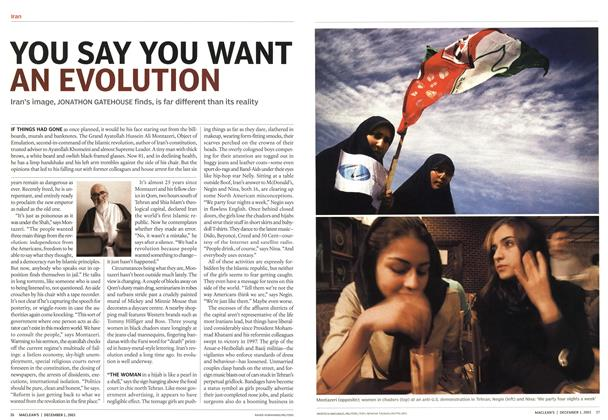 Article Preview: YOU SAY YOU WANT AN EVOLUTION, December 2003 | Maclean's