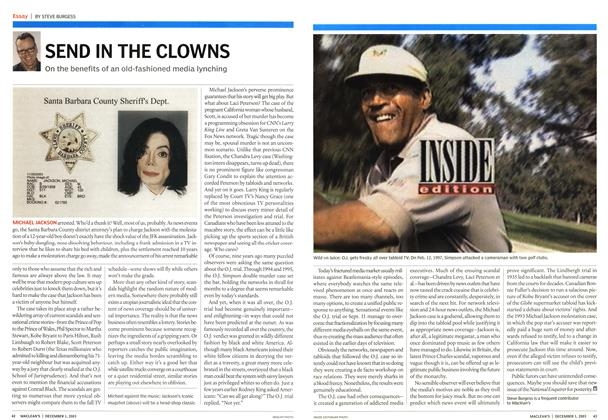 Article Preview: SEND IN THE CLOWNS, December 2003 | Maclean's