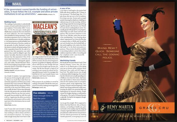 Article Preview: THE MAIL, December 2003 | Maclean's