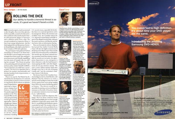Article Preview: UPFONT, December 2003 | Maclean's