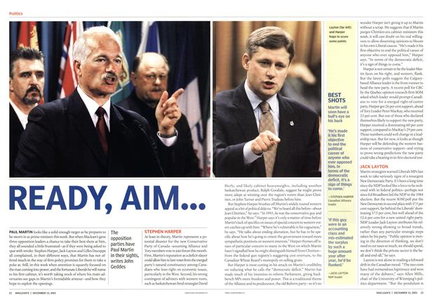 Article Preview: READY, AIM..., December 2003 | Maclean's