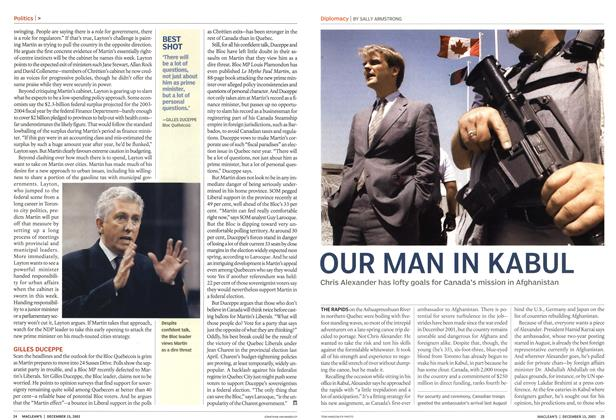 Article Preview: OUR MAN IN KABUL, December 2003 | Maclean's