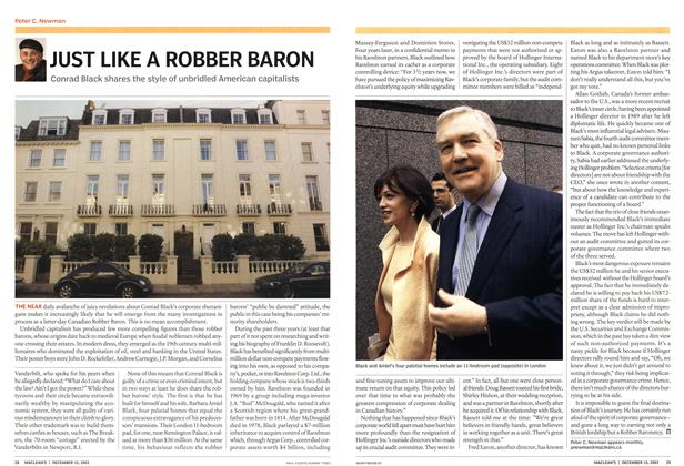 Article Preview: JUST LIKE A ROBBER BARON, December 2003 | Maclean's