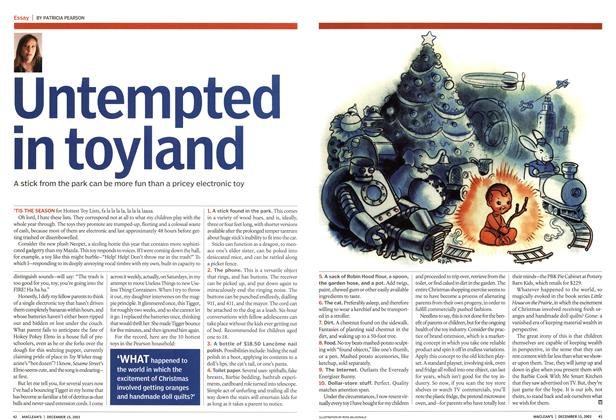 Article Preview: Untempted in toy land, December 2003 | Maclean's