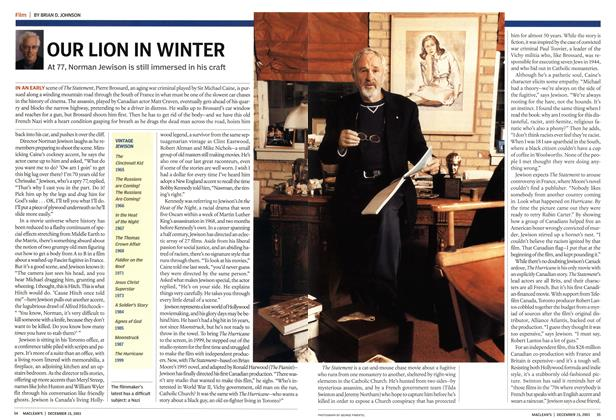 Article Preview: OUR LION IN WINTER, December 2003 | Maclean's