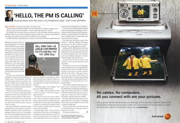 Article Preview: 'HELLO, THE PM IS CALLING', December 2003 | Maclean's