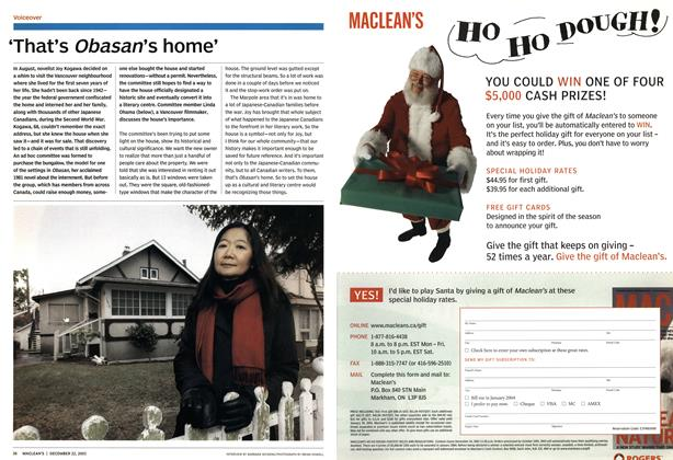Article Preview: 'That's Obasan's home', December 2003 | Maclean's