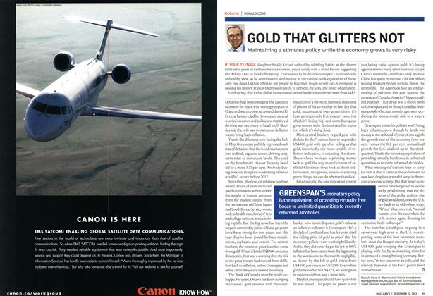 Article Preview: GOLD THAT GLITTERS NOT, December 2003 | Maclean's