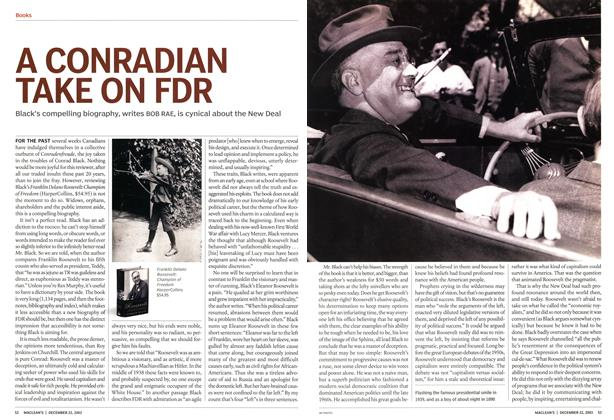 Article Preview: A CONRADIAN TAKE ON FDR, December 2003 | Maclean's