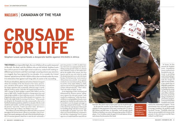 Article Preview: CRUSADE FOR LIFE, December 2003 | Maclean's