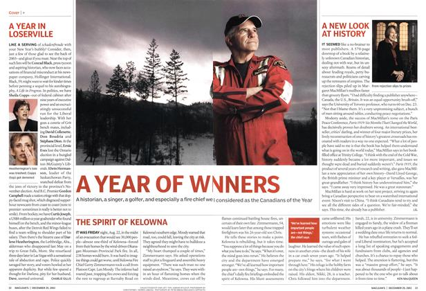 Article Preview: A YEAR OF WI NNERS, December 2003 | Maclean's