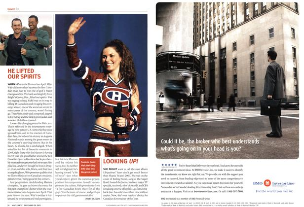 Article Preview: LOOKING UP!, December 2003 | Maclean's