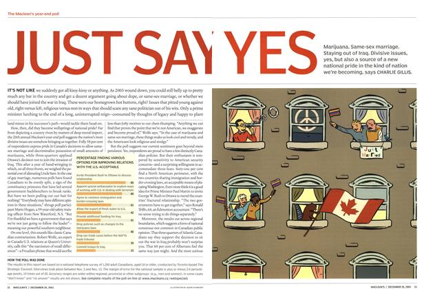 Article Preview: JUST SAY YES, December 2003 | Maclean's