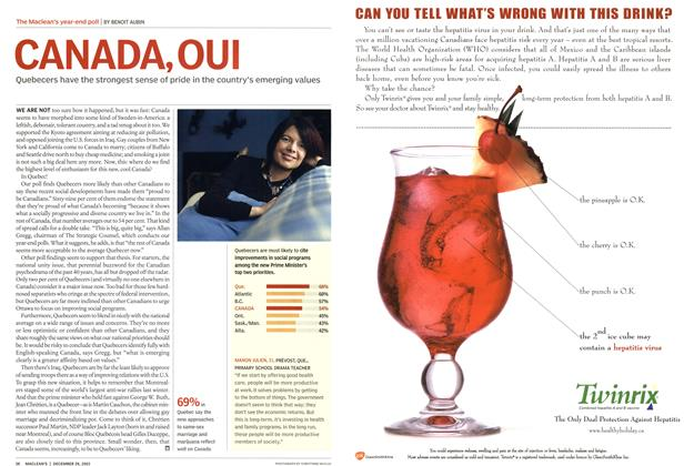 Article Preview: CANADA, OUI, December 2003 | Maclean's