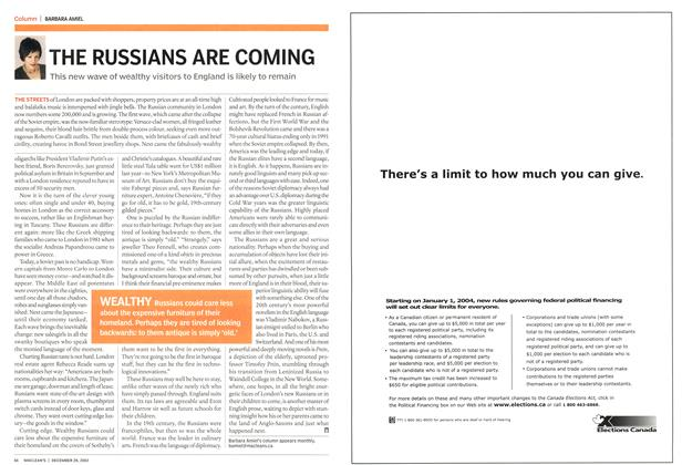 Article Preview: THE RUSSIANS ARE COMING, December 2003 | Maclean's