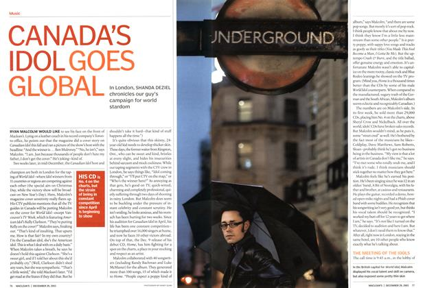 Article Preview: CANADA'S IDOL GOES GLOBAL, December 2003 | Maclean's