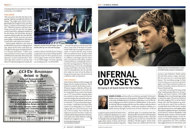 Article Preview: INFERNAL ODYSSEYS, December 2003 | Maclean's