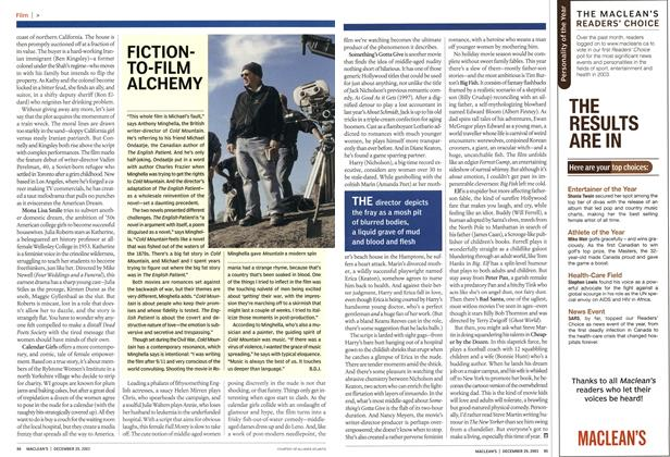 Article Preview: FICTIONTO-FILM ALCHEMY, December 2003 | Maclean's