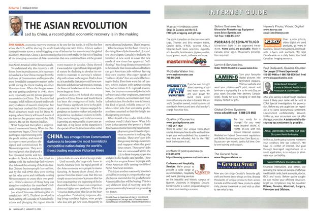Article Preview: THE ASIAN REVOLUTION, January 2004 | Maclean's