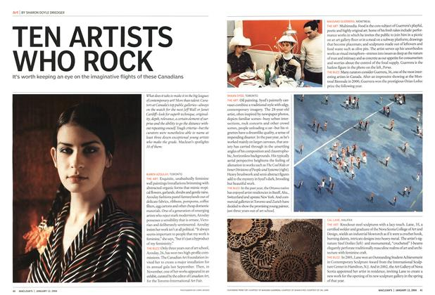 Article Preview: TEN ARTISTS WHO ROCK, January 2004 | Maclean's