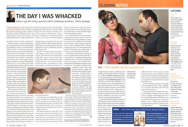 Article Preview: THE DAY I WAS WHACKED, January 2004 | Maclean's
