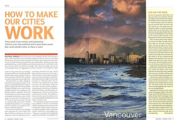 Article Preview: HOW TO MAKE OUR CITIES WORK, January 2004 | Maclean's