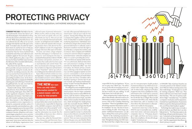 Article Preview: PROTECTING PRIVACY, January 2004 | Maclean's