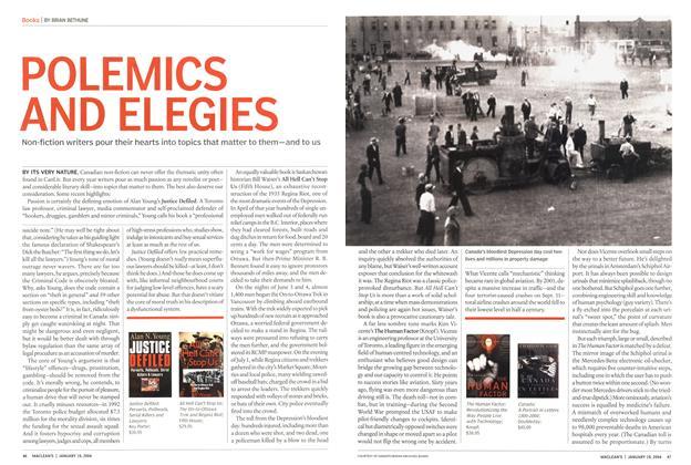 Article Preview: POLEMICS AND ELEGIES, January 2004 | Maclean's