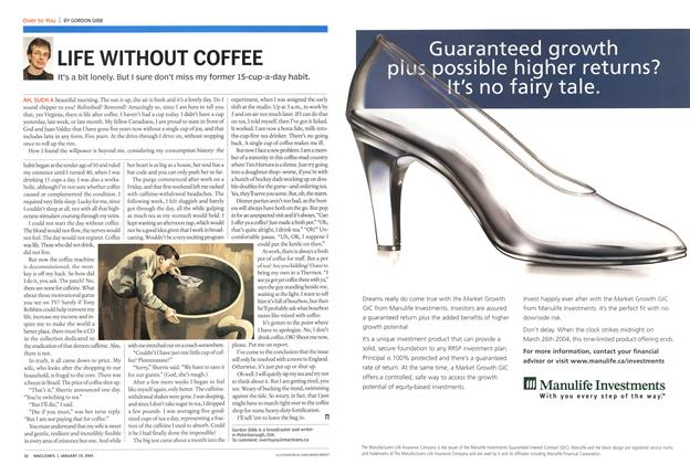 Article Preview: LIFE WITHOUT COFFEE, January 2004 | Maclean's